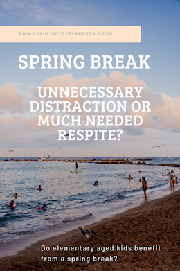 Children at a beach enjoying spring break