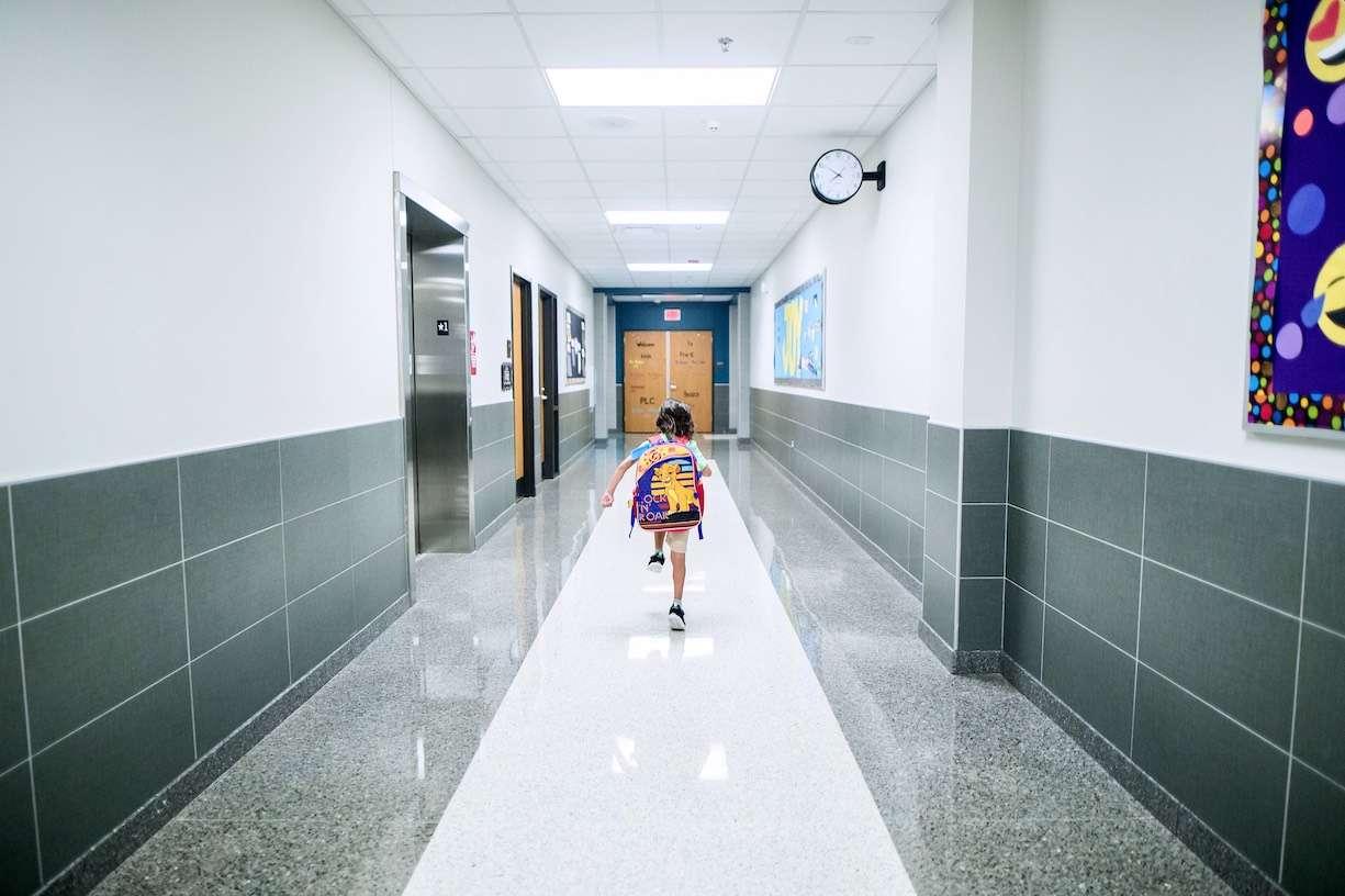 boy in hallway