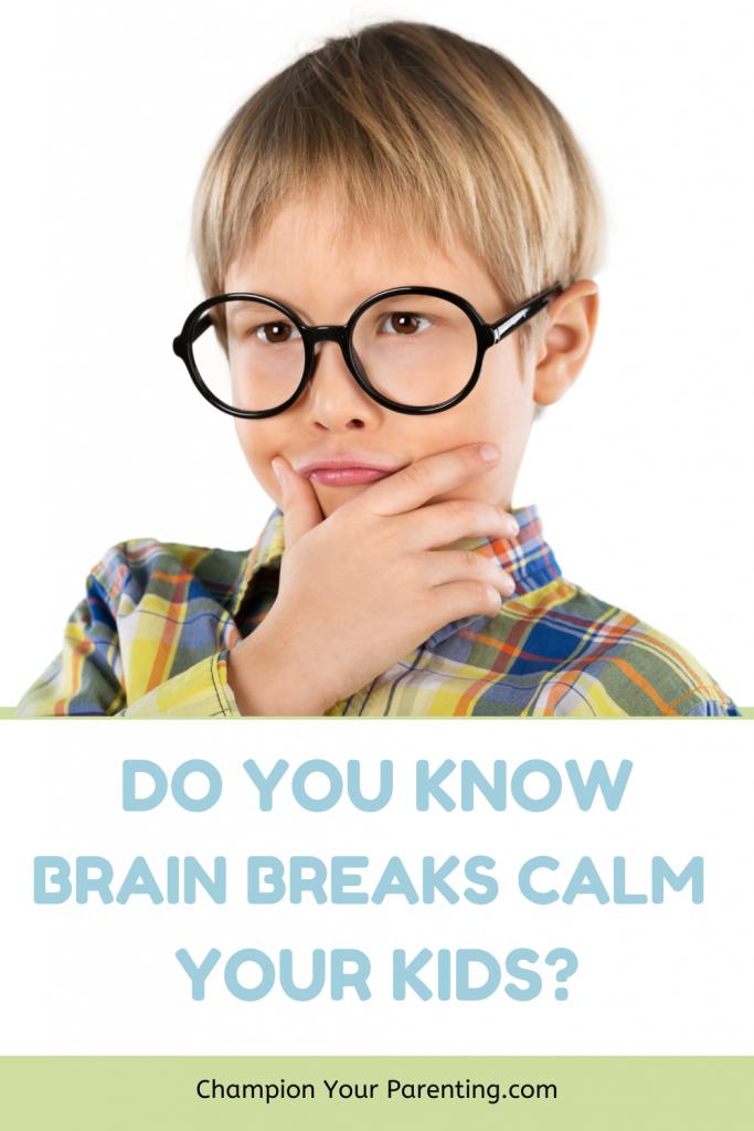 calm kid using brain
