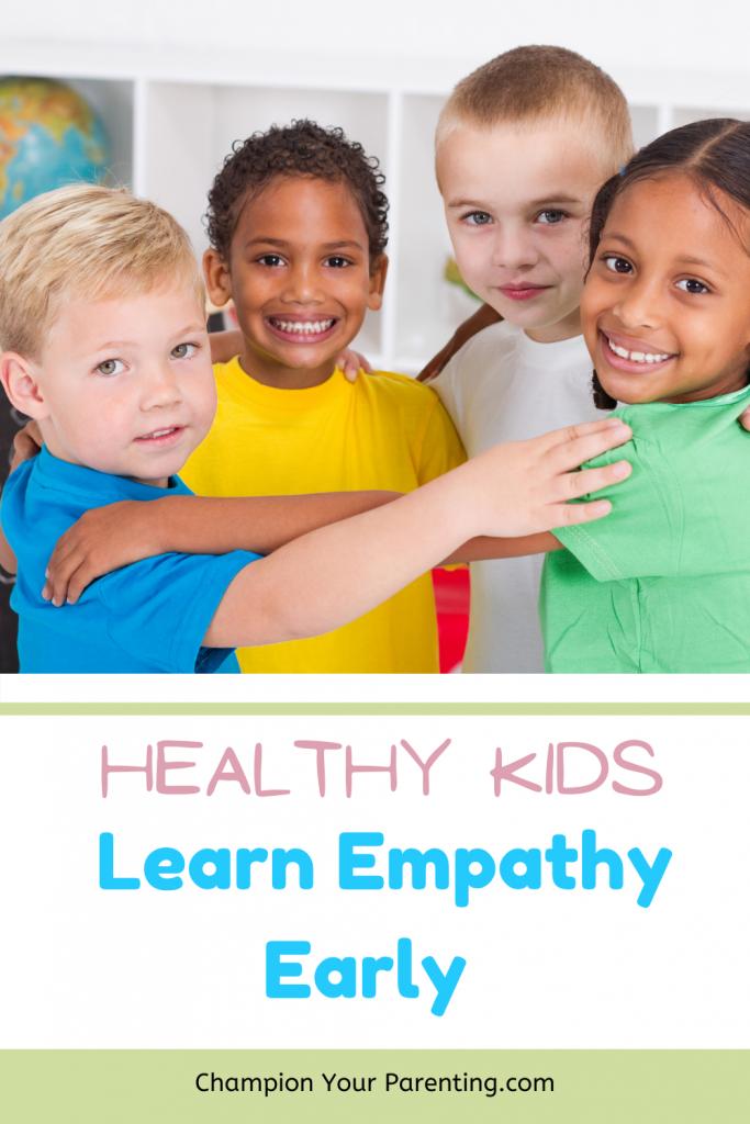 kids hugging - teaching empathy