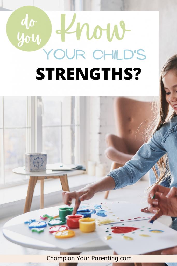 girl painting, child's strength