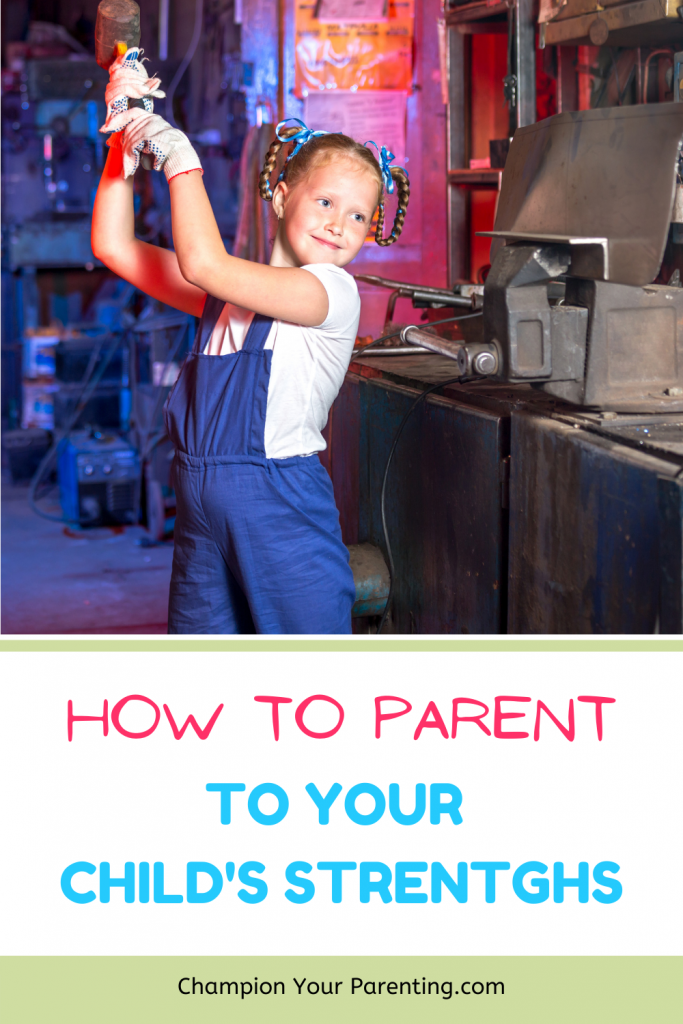 Girl holding hammer, How to Parent to your child's strengths