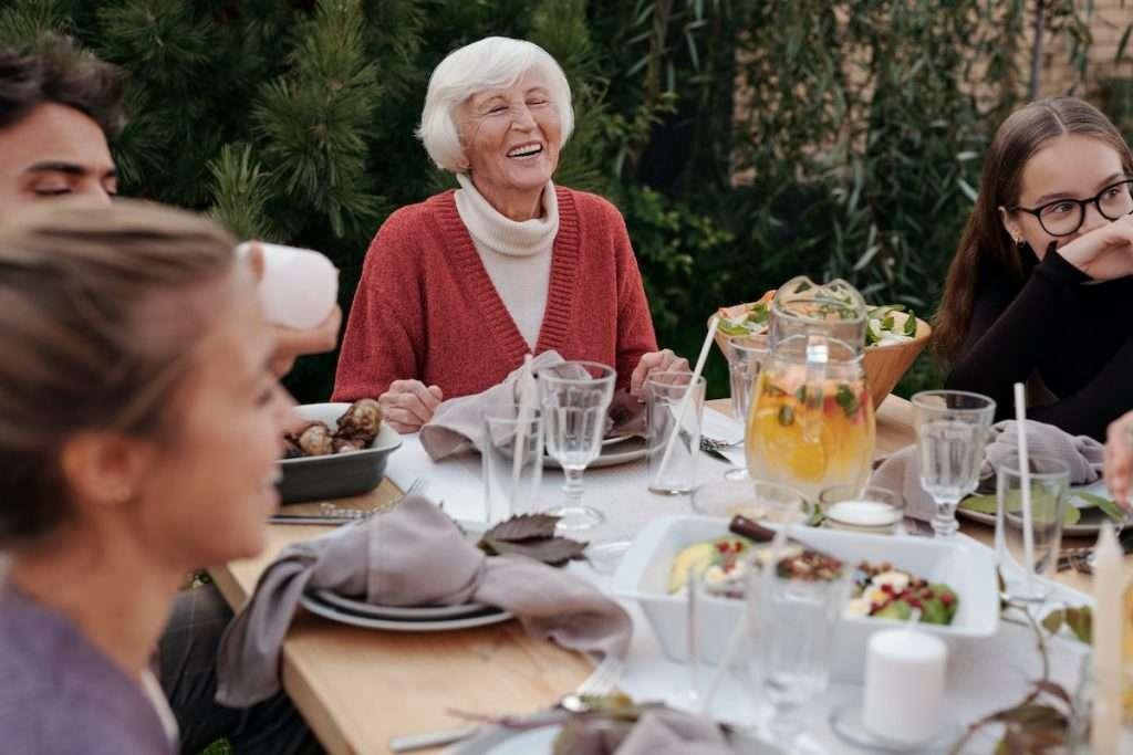 multi-generational family dinner, fun family activities